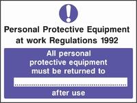Mandatory and Protective Clothing Sign MAND0011-0916