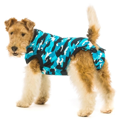 Suitical Recovery Suit Dog Blue Camouflage