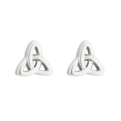 S/S TRINITY KNOT STUD EARRINGS(BOXED)