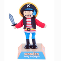 Wooden Play Figure - Pirate