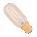 4W LED VINTAGE TUBULAR  DIMMABLE LAMP 240 VOLT BC 300 LUMEN 2000K 15000 HOUR