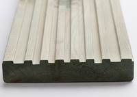 4.8m Smooth & Grooved Reversible Deck Board Ex 32x150mm