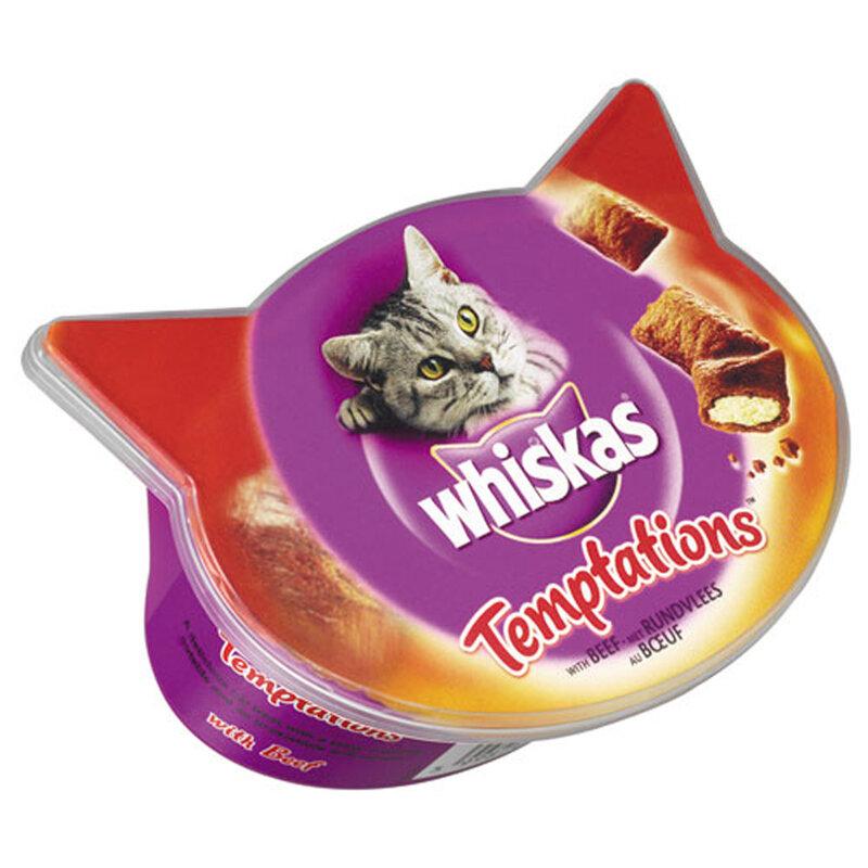 Whiskas Temptations Beef 8 x 60g