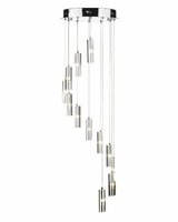 Galileo 12 Light Cluster LED Pendant,Polished Chrome | LV1802.0067