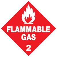 Hazchem Class 2 Flammable Gas Diamond