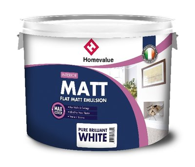 Homevalue Matt Emulsion White Paint 10 Litre