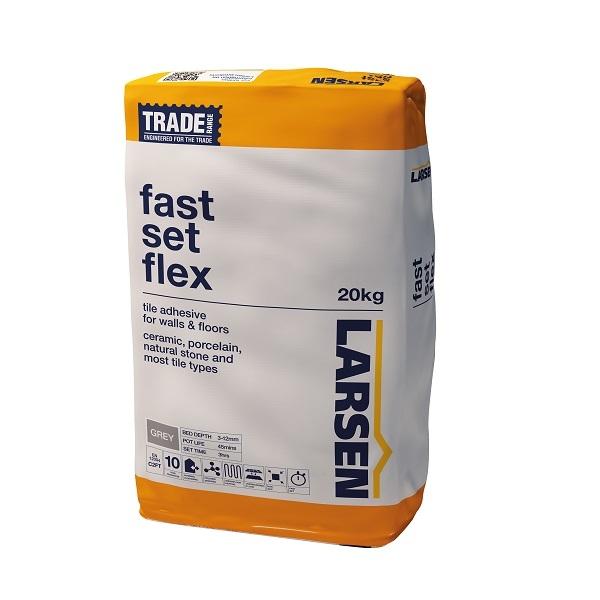 Larsen Tile Adhesive Fast Set Flex Grey 20kg Goodwins