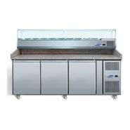 Pizza Prep Counter 3 Door 2020x800x1435mm Granite Worktop
