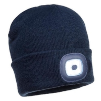 Beanie with Rechargeable LED Head Light