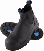 Steel Blue Hobart Slip On Safety Boot With Bump Cap Black
