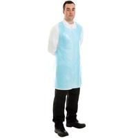 Polythene Disp Apron Blue 27*42 (100's) - 40211