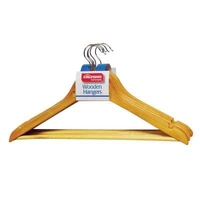 KINGFISHER WOOD CLOTHES HANGER PAK 5