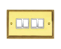 BRASS HERITAGE SWITCH 4 GANG 2 WAY
