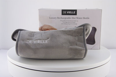 De Vielle Grey Hot Water Bottle With Box