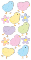 Chicks/Flowers Large Essential Craft Sticker. (Priced in singles, order in multiples of 6)