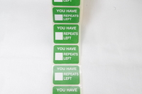 "SIZE 36x28mm YOU HAVE REPEATS LEFT "" LABEL (ROLL 1000)"