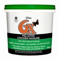 6X Pelleted Chicken Manure Fertiliser 8kg
