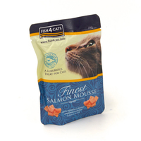 Fish4Cats Finest Salmon Mousse Pouch 100g 6pk x 1