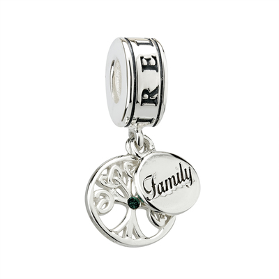 S/S TREE OF LIFE FAMILY DANGLE BEAD