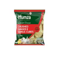 Crushed Garlic & Ginger Cubes IQF 1x400g (Humza)