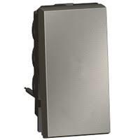 Arteor 2 Way Push Button (6a 250v) - Magnesium  | LV0501.0070