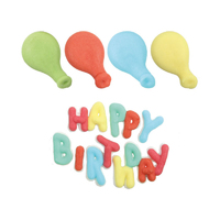 98233- HAPPY BIRTHDAY, 4BALLOONS