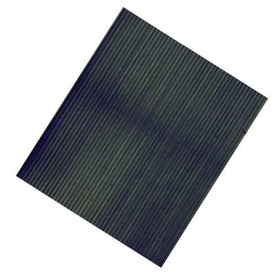 Rubber Mat Ribbed Black 762mm x 400mm