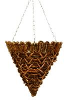 "Banana Rope Weave Hanging Basket Cone 12"""