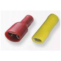Insulated Female Push-On Terminal Red 6.3mm