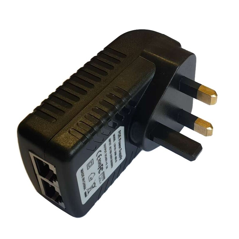 48V 0.5A POE Injector with IRL/UK Plug Top