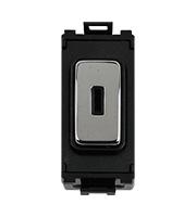 Schneider Ultimate Grid Key switch Mod Mirror steel with Black surround|LV0701.1127