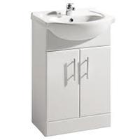 Riga 55cm White Vanity Unit