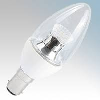 BELL  4WLED SBC B15 CL CANDLE DIM 2700(25W)