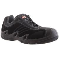 No8 BlackTrack Lace Up Composite Toe Safety Shoe Black/Grey