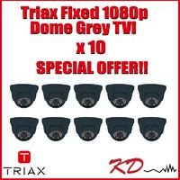 Triax Fixed Lens 1080p TVI Dome  Grey X 10