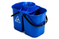 GEMINI TWIN BUCKET WITH SIEVE BLUE