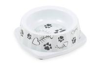 Ancol Melamine Cat Bowl - Grey Stripe x 6
