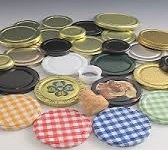 Jar lids, Honey caps, Plastic screw caps.