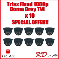 Triax Fixed Lens 1080p TVI Dome  Grey X 10