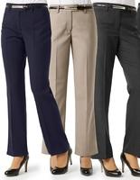 Biz Ladies Classic Flat Front Pant