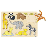 Wooden Peg Puzzle - Wild Animals