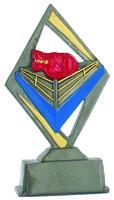14cm Boxing Ring Plaque (Coloured)