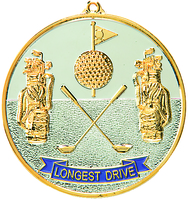 70mm Silver/Gold Longest Drive Medal