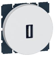 Arteor USB Socket Round - White    LV0501.2592
