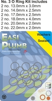 Easi Plumb 12 Pce No. 3 Large O Ring Kit