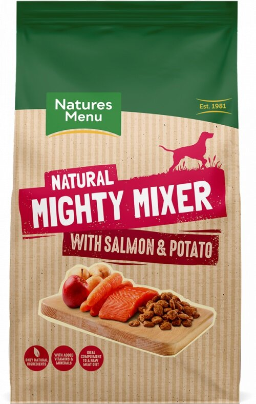 Natures Menu Mixer Biscuit with Salmon & Potato 2kg x 5