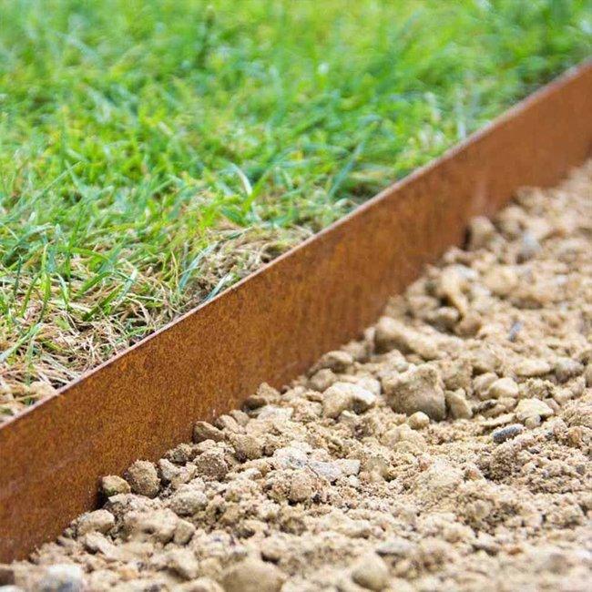 Multi Edge Metal Garden Lawn Edging 175mm X 1mtr Corten Steel Goodwins