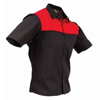 TWZ Contrast Short Sleeve Polycotton Shirt 170gsm