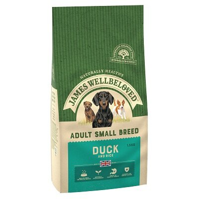 James Wellbeloved Small Breed Duck & Rice Dog Food 1.5kg