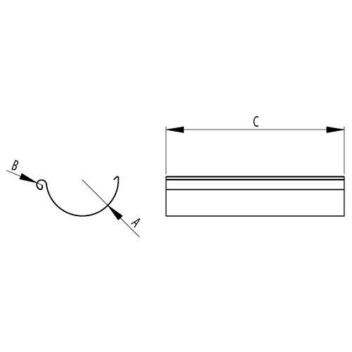 RoofArt steel gutter size drawing